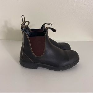 Blundstone Brown Leather Pull On Boots